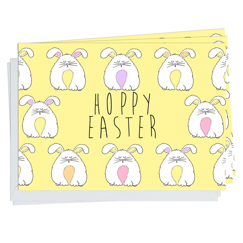Hoppy Easter Bunnies  Pack Of 5 Cards