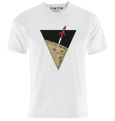 Tintin Rocket T-Shirt White
