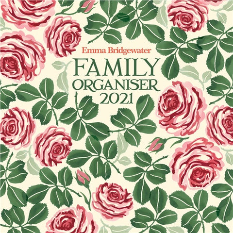 Emma Bridgewater Pink Roses Family Wall Planner 2021