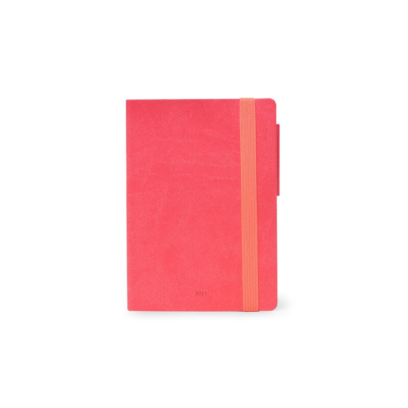Small Daily Diary 2021 Neon Coral