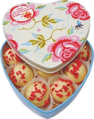 Emma Bridgewater Heart Tin Filled With Marc De Champagne Truffles