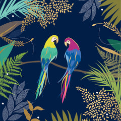 Parrots on Branch Card