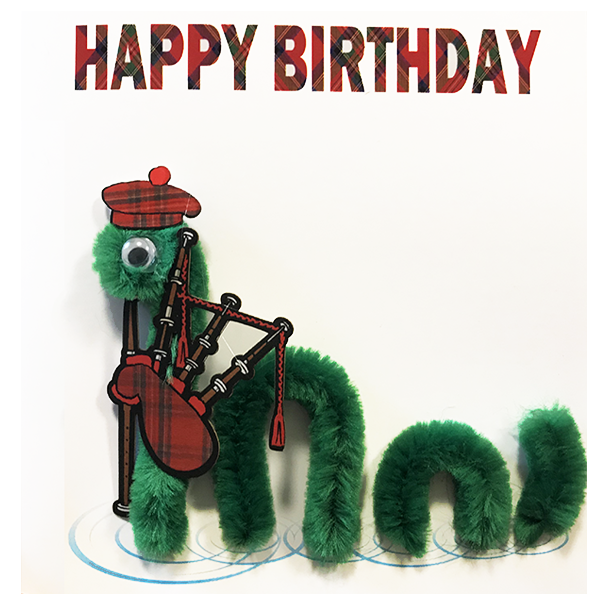Loch Ness Birthday Card