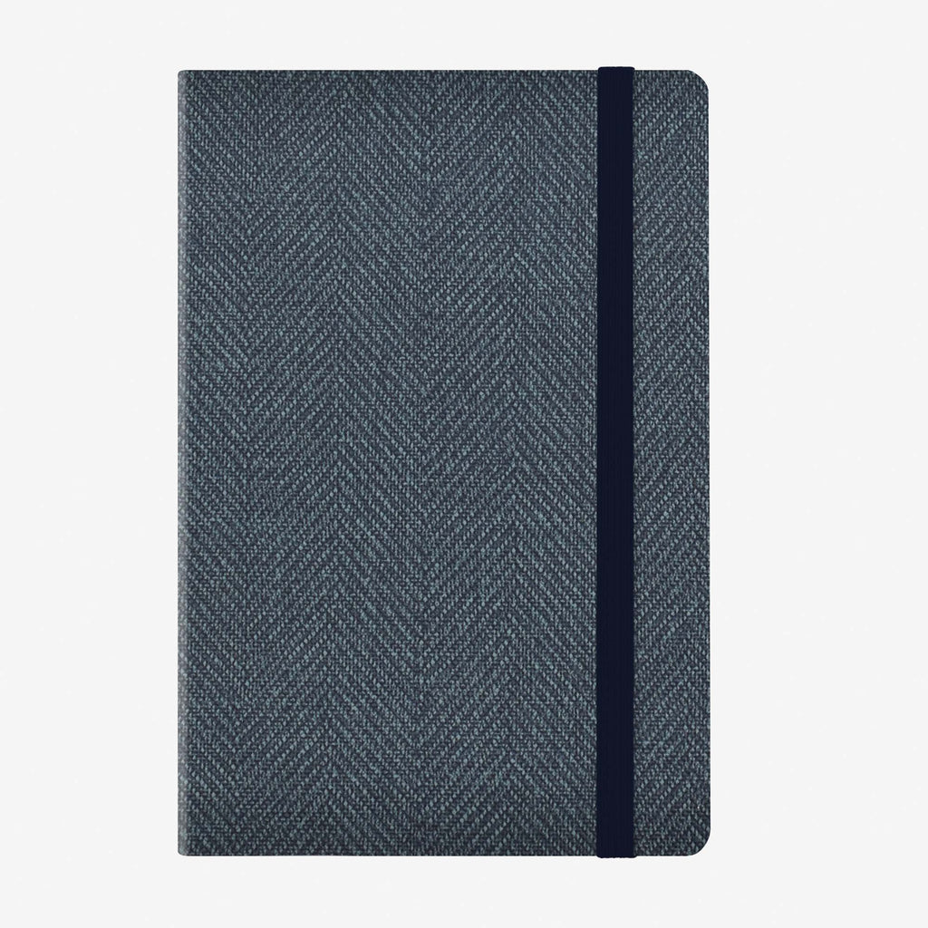 Medium Weekly Diary With Notebook 12 Month 2020 - Blue Tweed