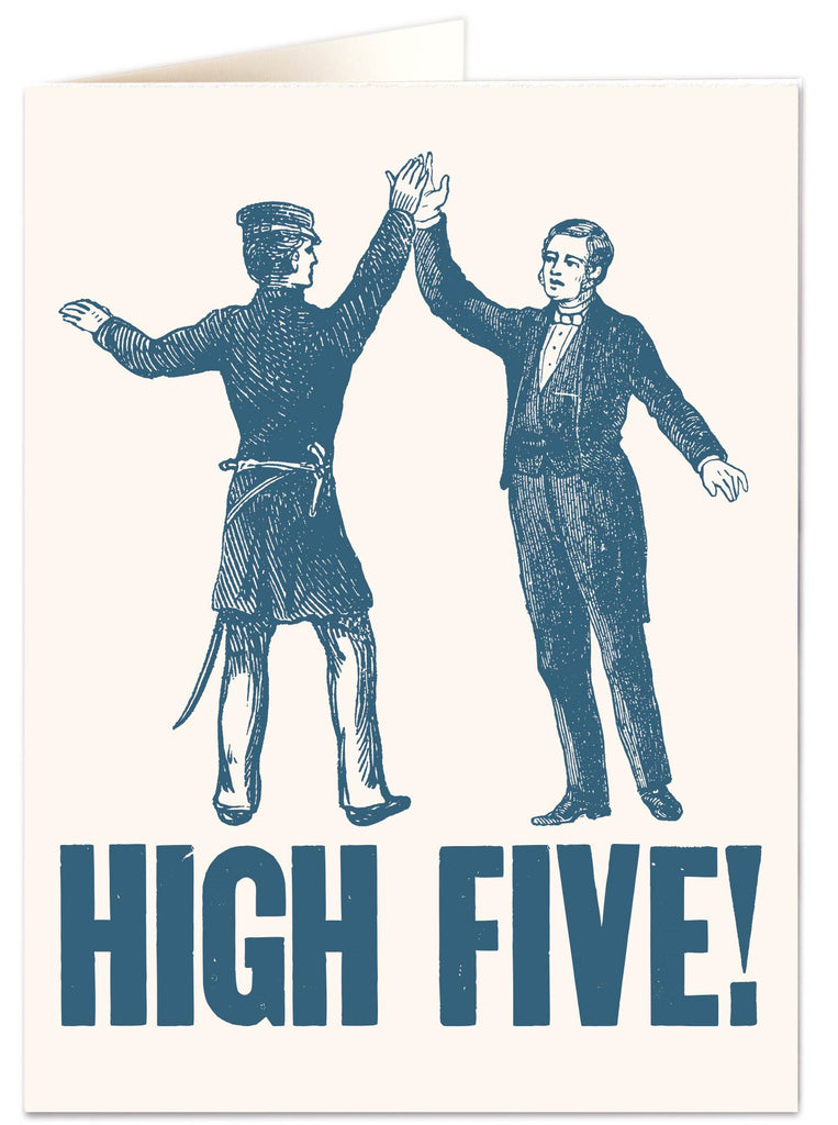 High Five Blank Letterpress Card