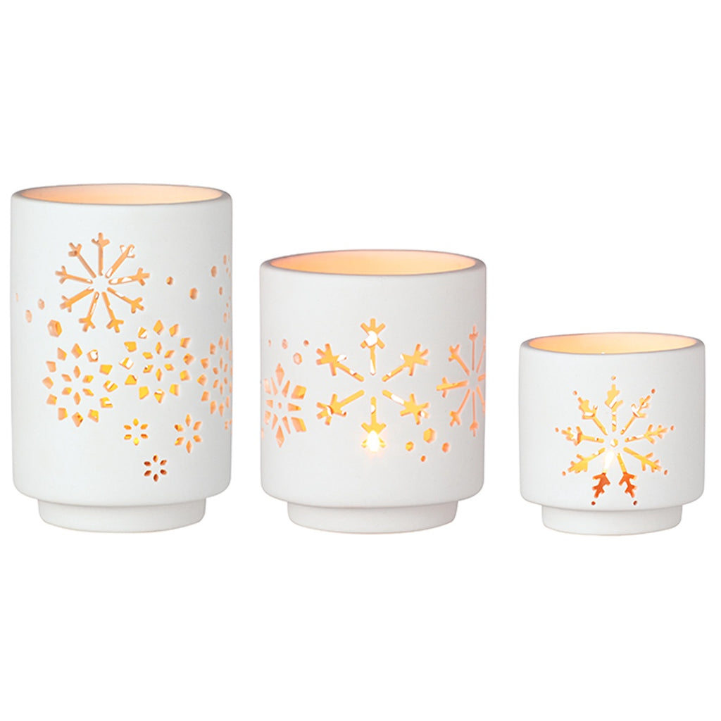 Porcelain Tea Light Holders Set of 3