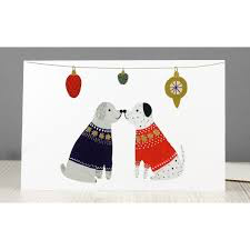 Kissing Dogs Christmas Cards Pack