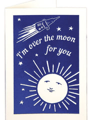 Congratulations Card - Over The Moon