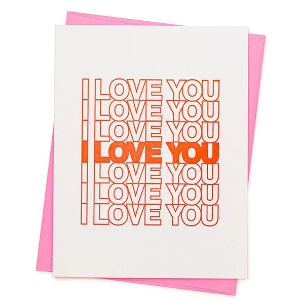 I Love You Neon Valentine'€™s Day Card