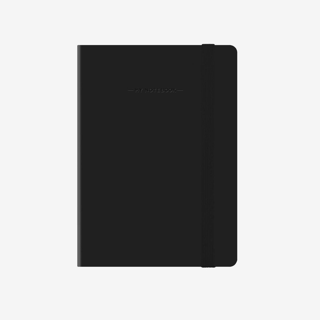 Small Plain Black Notebook
