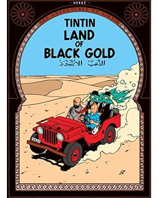 Land of Black Gold Tintin Postcard