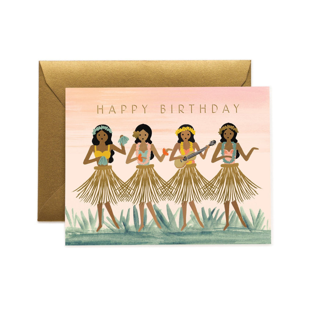 Hula Girls Birthday Card
