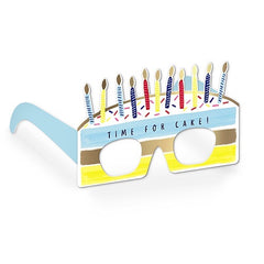 Time for Cake Birthday Glasses