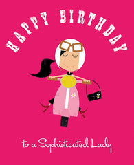 Happy Birthday to a Sophisticated Lady Card