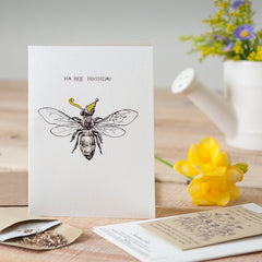 Ha-Bee Birthday Seed Card
