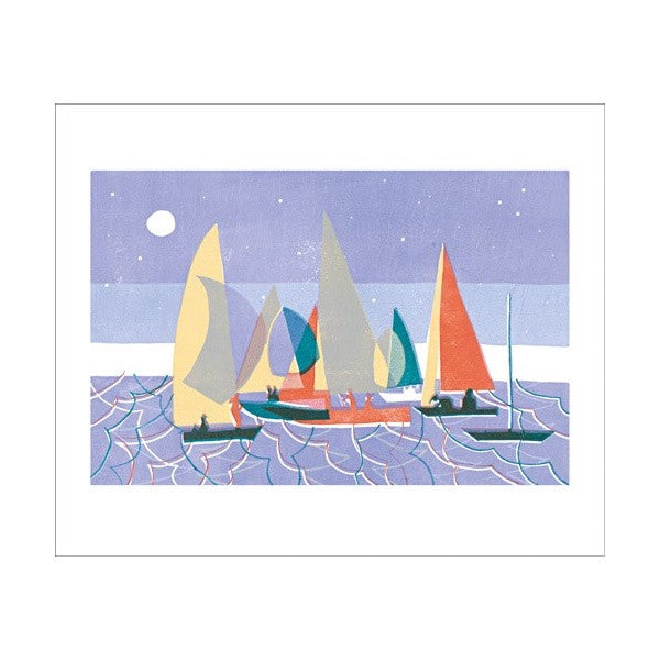 Sailing at Dusk Card