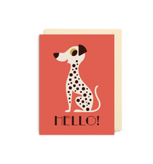 Hello Dalmatian Mini Card