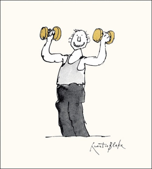 Mr. Muscles Quentin Blake Card