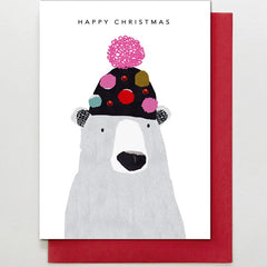 Polar Bear in Bobble Hat Card