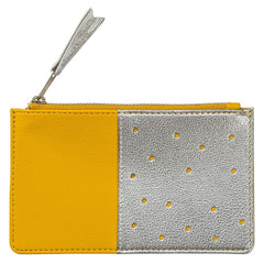 Busy B Yellow and Silver Purse