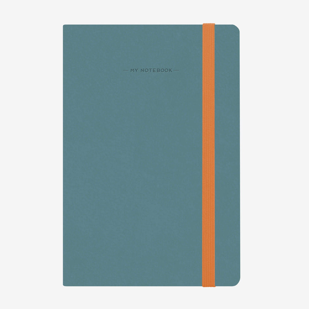 Medium Lined Blue Grey Notebook