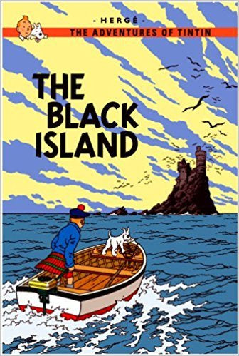 The Black Island Postcard (English)