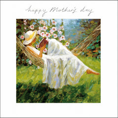 Happy Mother's Day Reading in Hammock Card