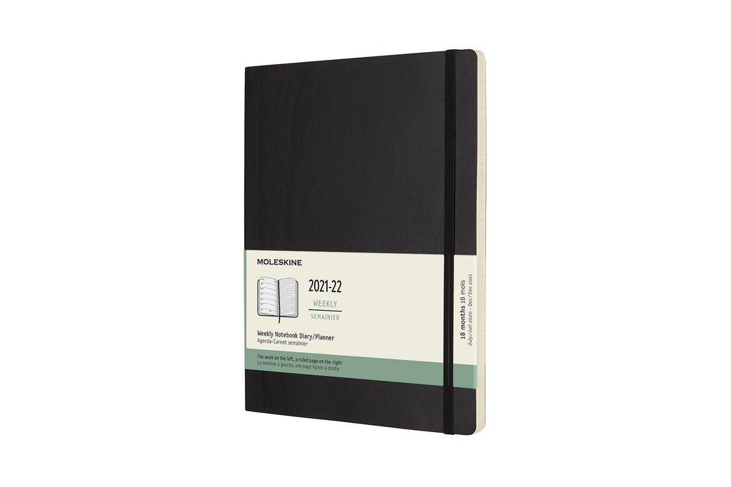 2021-22 Weekly Planner XL Softcover Black
