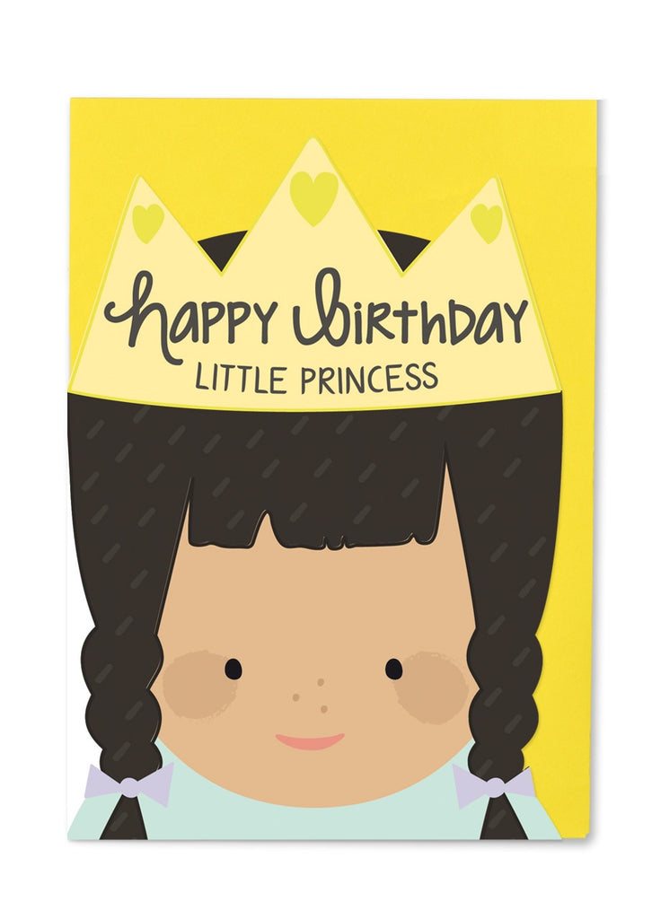 Happy Birthday Little Princess Cut Out Card