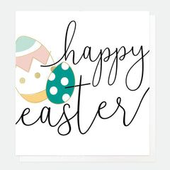 Happy Easter Eggs Foiled Card