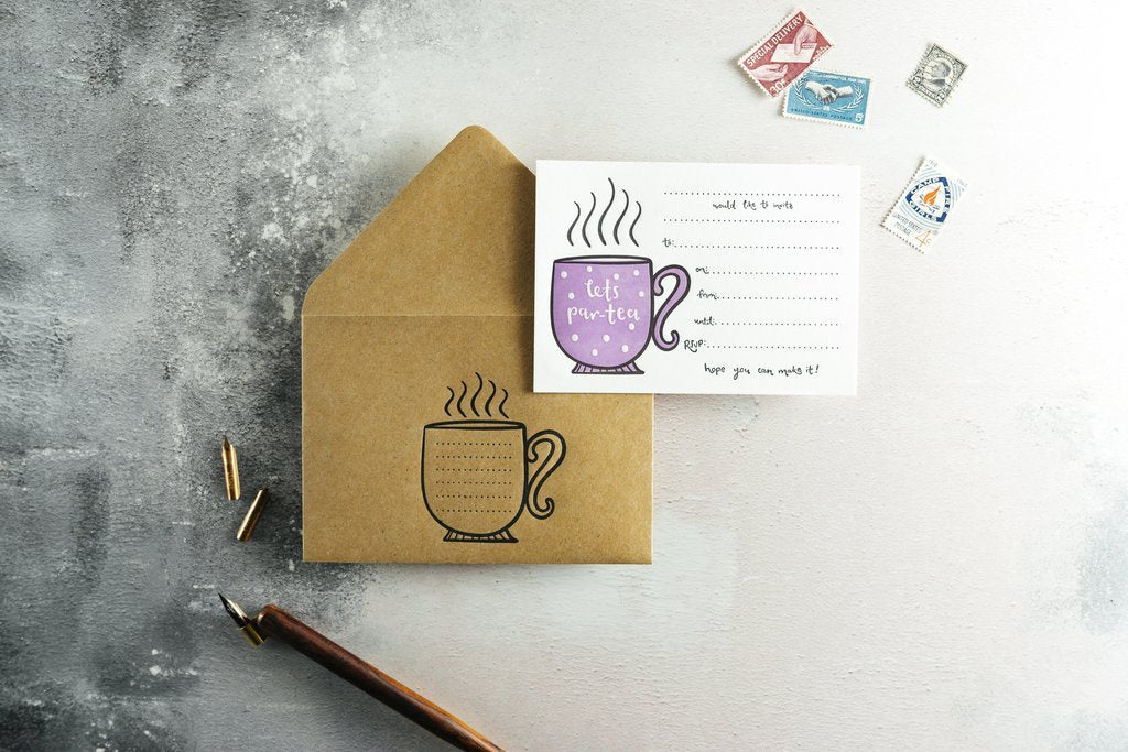 Let's Par-Tea Invitations Set
