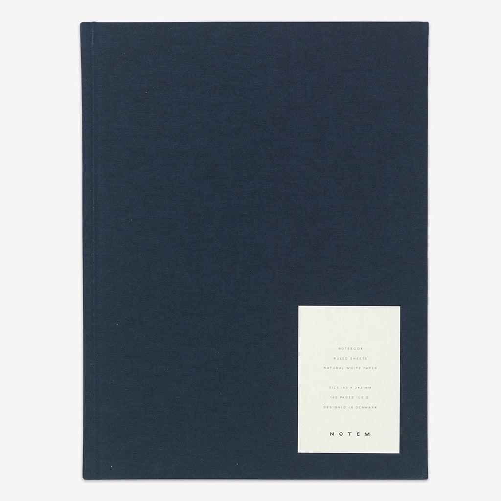 Even Dark Blue Large Hardcover Notebook by Notem