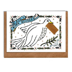 Dove with Envelope Christmas Card