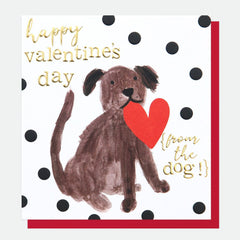 Happy Valentine's Day From The Dog Card