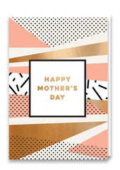 Happy Mother's Day Pink and Bronze Card