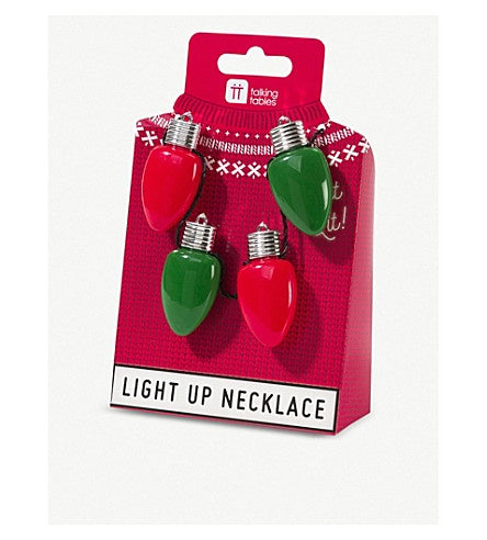 Led Large Bulb Flashing Necklace