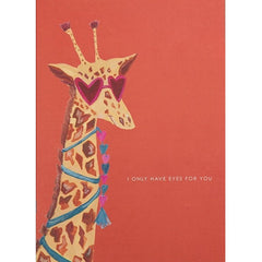 Giraffe Eyes for You Valentine's Day Card