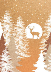 Deer in Moonlight Christmas Card