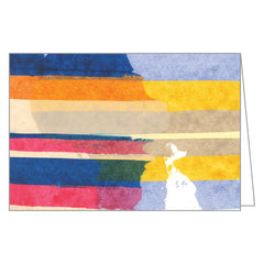Painted Stripes Large Notecard Box