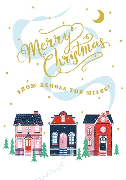 Across The Miles Street Christmas Card