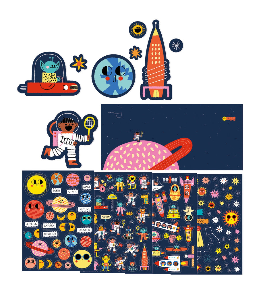 Space Set of 150 stickers