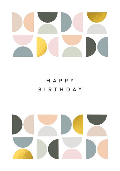 Tiled Pattern Birthday Card