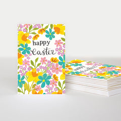 Happy Easter Floral Pack of 10 Cards