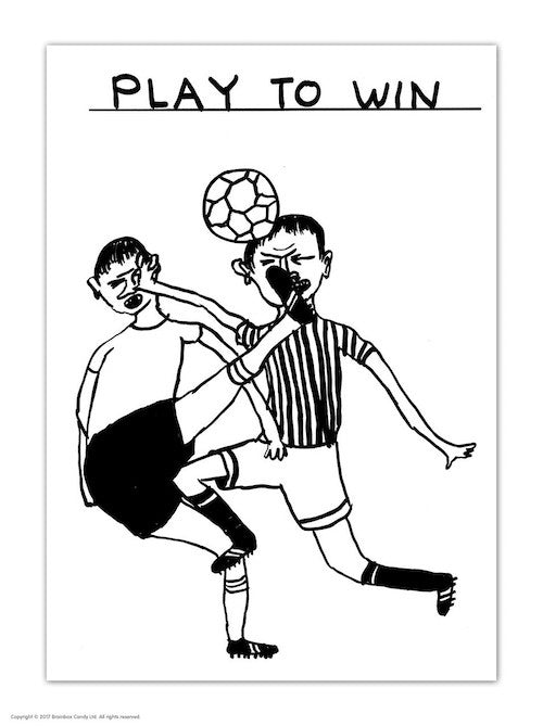 Play To Win Postcard