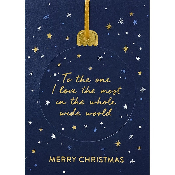 One I Love Bauble Christmas Card