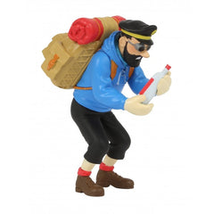 Captain Haddock with Whisky Bottle Figure 8cm