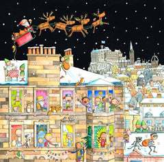 An Edinburgh Tenement at Christmas Pack of 6 Christmas Cards