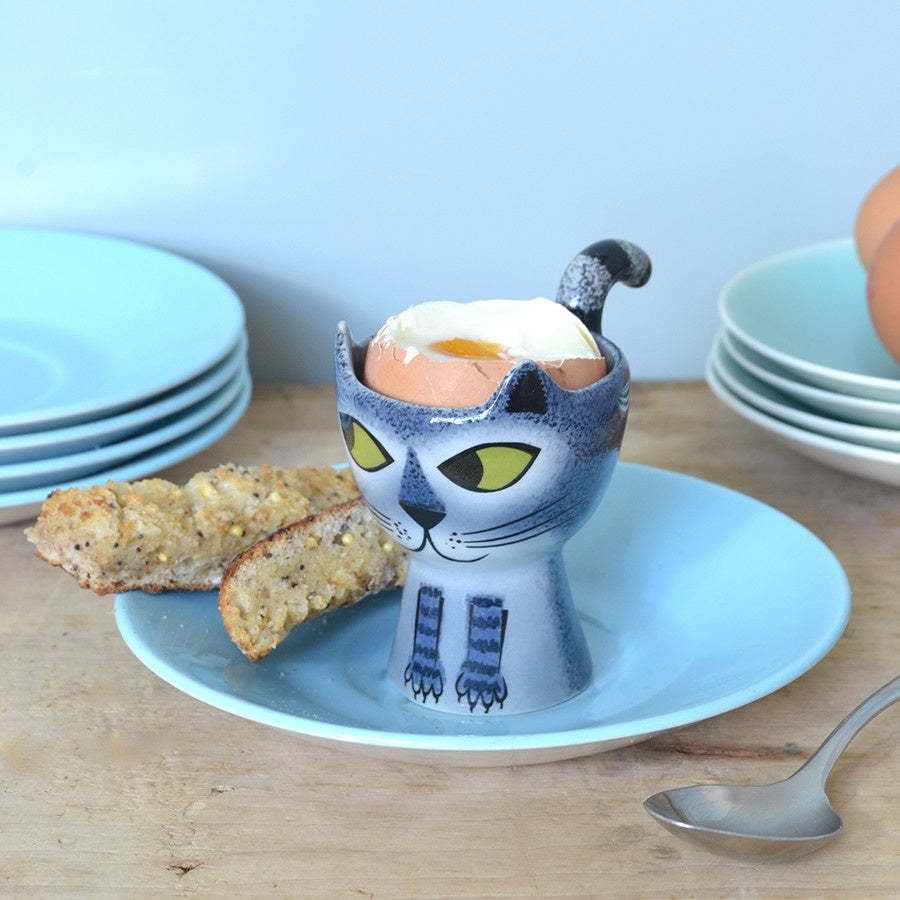 Grey Tabby Cat Egg Cup