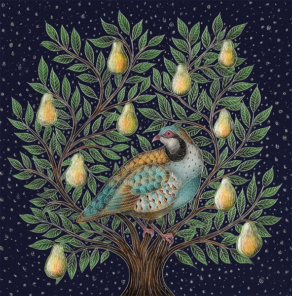 Partridge In A Pear Tree Luxury Box of 8 Cards