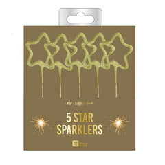 Gold Star Shaped Sparkles